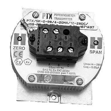 Двухпроводной датчик-потенциометр Moore PTX